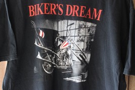Bikers Dream Chopper Motorrad Poem Hemd - $9.38