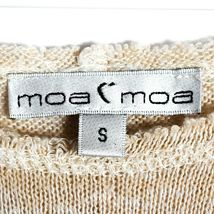 Moa Moa Taupe Tan Cream Textured Knit Long Sleeve Shirt Size S image 3