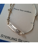 Sterling Silver Peace Bracelet New in Package NIP - $20.00
