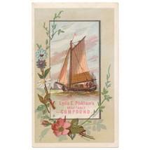 1875 Lydia Estes Pinkham Vegetable Compound Trade Card - $16.00