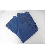 Carhartt Mens Carpenter Pants Jeans Denim 38 x 26.5 Dungaree Fit B237 DST - $16.82