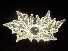 Beautiful Exquisite Large Lalique Champs Elysees Leaf Bowl Retail $4200!!! - $2,965.05