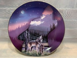 EVENING'S CALL Profiles of The Pack #6090A Bradford Exchange Plate Wolf Wolves - $19.79