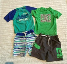 Boys DC and Tommy Hilfiger Lot of 2 Swim Sets Size 24 M & 2T Green Gray ... - $16.14