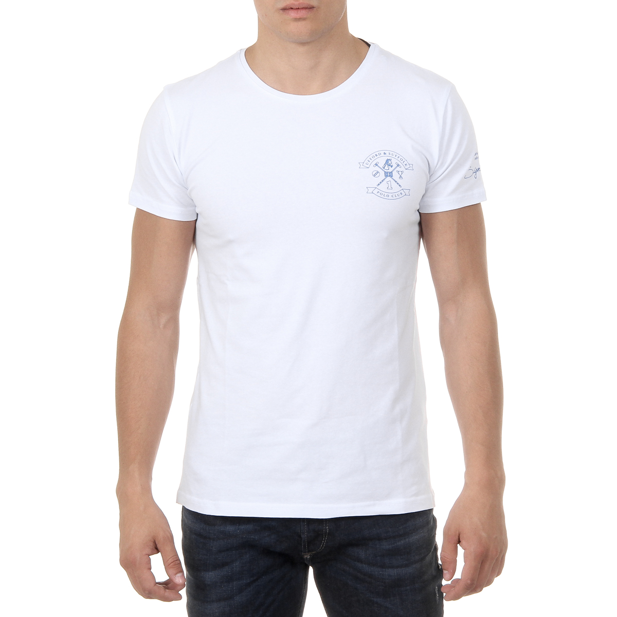 Primary image for Ufford & Suffolk Polo Club Mens T-Shirt Short Sleeves Round Neck US028 WHITE