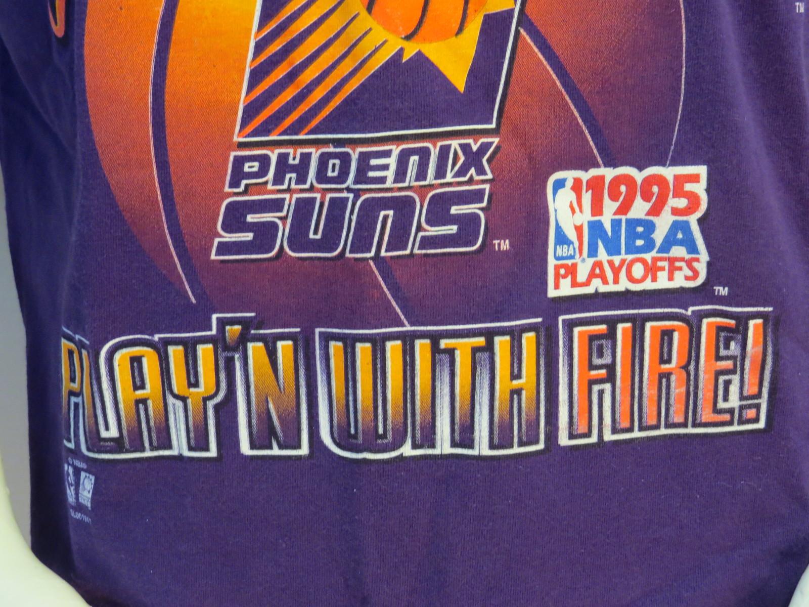 Phoenix Suns Shirt (VTG) -1995 Playoffs Playin with Fire Salem Sports-Mens Large