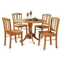 Dining Room Table Set Rustic Round Wood Modern Kitchen Coffee - Antique ... - $613.77