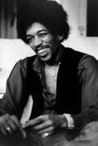Jimi Hendrix smiling seated press photo late 1960's 8x12 inch real photo - $11.75