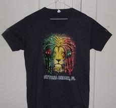 Next Level Mens Large V Neck Daytona Beach, Florida Graphic T Shirt - $8.96