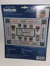 """2002 Janlynn Counted Cross Stitch This Kitchen Seasoned With Love Kit 16"""" x 12"""" - $15.84"""