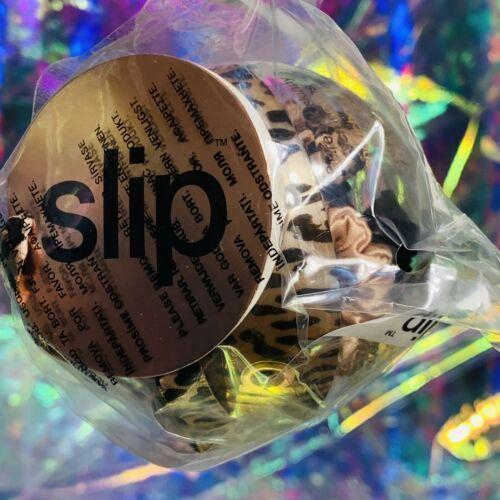 Slip 100% Silk Holiday 2020 Bauble - Skinny Scrunchie Rose Gold Trio Leopard