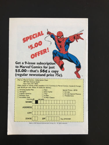 Marvel Comics Presents Spectacular Spider-Man Mini Comic (1987) #21 NM Near Mint