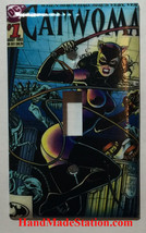 Catwoman Comic Book Cover Light Switch Power Outlet wall Cover Plate Home decor image 1