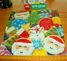 Springbok Jigsaw Puzzle 500 Pieces Christmas Cookies Fun Family Project ... - $15.83