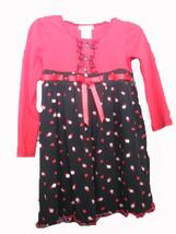 Bonnie Jean Ladybug print long sleeve dress SIZE 6 - $8.86
