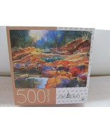 "Big Ben ""Colorful Stones"" River Stream Landscape 500 Pc Jigsaw Puzzle - $9.40"