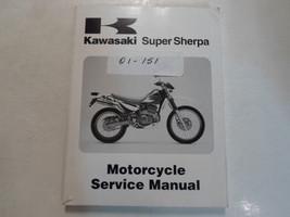 1997 1999 2000 Kawasaki Super Sherpa Motorcycle Service Manual WORN DAMAGED OEM - $39.59