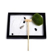 Homelex Mini Meditation Zen Garden Buddha Rock Rake Sand Pen Base Set De... - $12.25