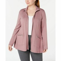 Calvin Klein Womens Performance Plus Size Zip Jacket Rosewood Size 1X - $88.11