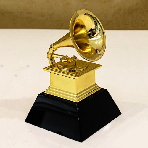 GRAMMY award trophy gold plated marble base 20cm tall metal trophy!