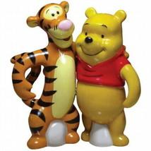 Disney's Winnie the Pooh & Tigger Ceramic Salt and Pepper Shakers Set NEW UNUSED - $38.69