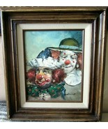VINTAGE (WILLIAM MONINET)~ONE OF THE MOST WELL-QUOTED CLOWN PAINTERS! - $98.01
