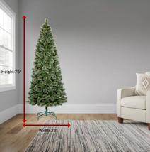 7.5ft Pre-lit Artificial Christmas Tree Slim Virginia Pine with Clear Lights NIB image 6