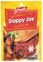 3 Sloppy Joe Seasoning Mix French's Sauce 43g Each -From Canada FRESH Delicious - $12.62