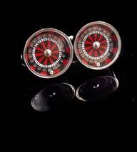 Roulette Wheel Cufflinks / It  SPINS / Casino Cufflinks / Vintage Gamber... - $125.00