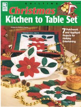 Christmas to Table Set Quilting Pattern Craft Book - $6.99