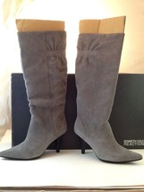 Kenneth Cole Reaction 9.5 New Gray Go For It Suede Heel Boots, NIB - $25.23