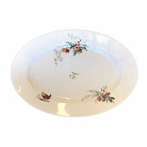 """Antique Haviland Limoges France Hand Colored Turkey Platter Porcelain 16 X 11"""" - $42.08"""