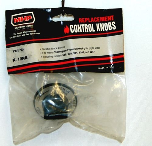 Modern Home Products K12RB Replacement Control Knob Right Black
