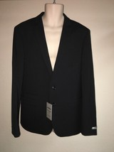 Express Blazer Suit Jacket Black Stripe Photographer Fitted Mens 40 Reg ... - $52.25