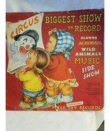 """Peter Pan Record Circus BIGGEST SHOW ON RECORD 10"""" 78 RPM 1949 - $6.88"""