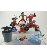The Incredibles Lot 9pc Superhero Toy Figures Disney Pixar McDonalds Set B4 - $17.77