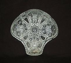 Old Vintage Clear by LE Smith Glass Candy Nut Serving Tray Cane Arch Des... - $14.84