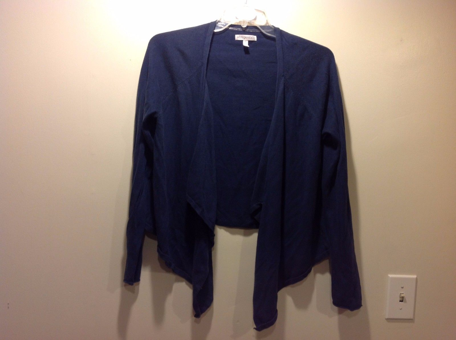 Navy Blue Loose Flowy Cardigan Shrug by Aeropostale Sz XL