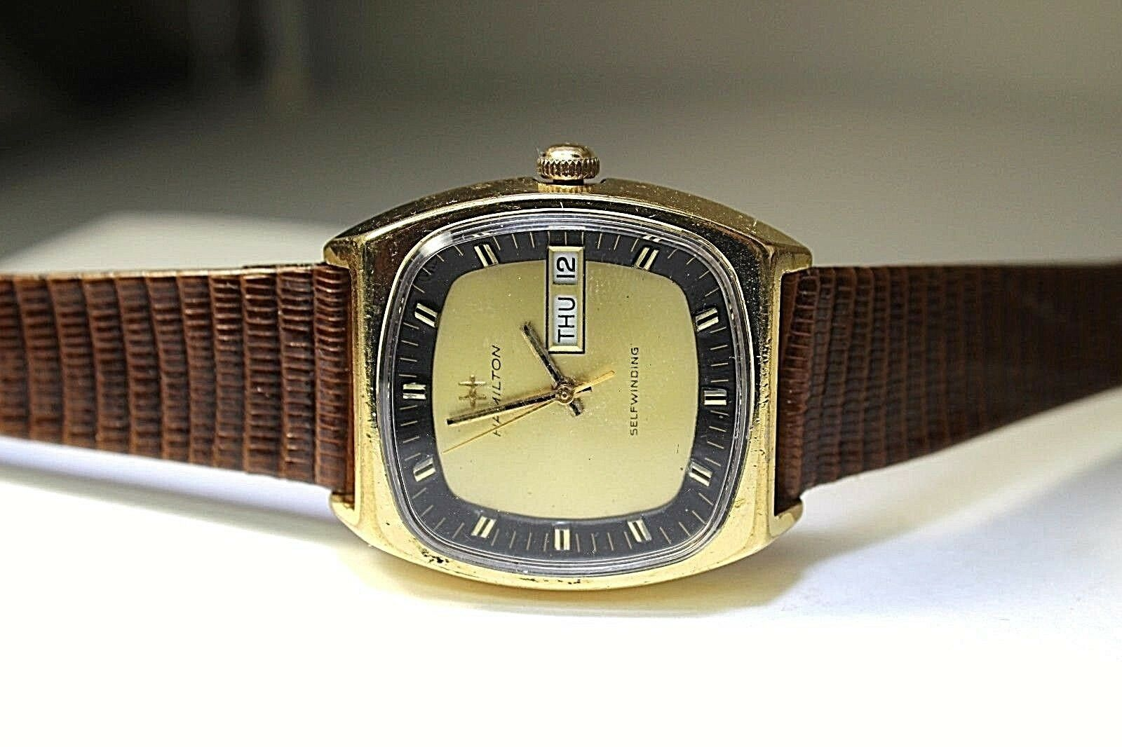 HAMILTON SWISS AUTOMATIC SERVICED WATCH MEN  837025-14 VINTAGE