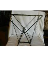 "Vintage Metal Folding Camp Stool, Camo Pattern 14"" Tall x 12"" x 7.5"" - $37.13"