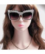 New Fashion Square Sunglasses Women Bling Rhinestones Vintage Oversized ... - $26.99
