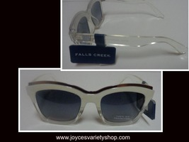 Falls Creek White Clear Sunglasses NWT 100% UV Protection image 1