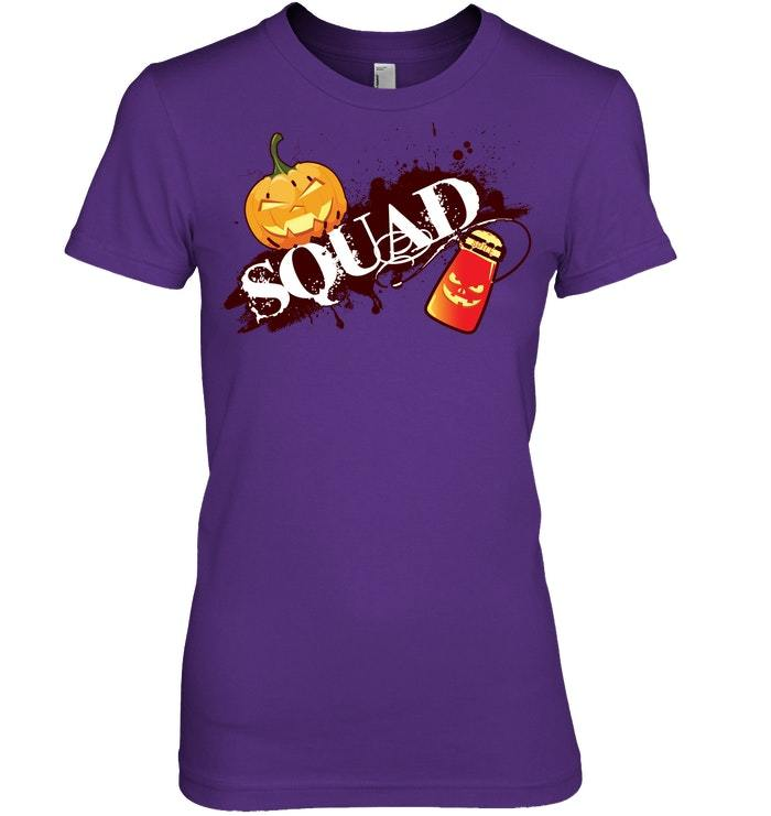 Funny Halloween Tshirt Pumpkin Spice Squad Fall Coffee
