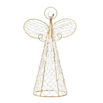Christmas Tree Topper Angel, Beaded Decoration Yard Outdoor Home Angel D... - $36.29