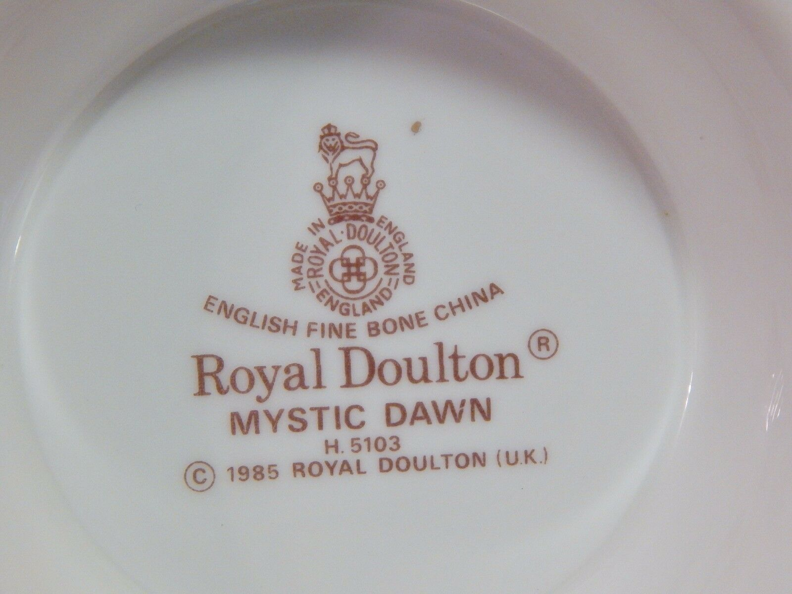 Royal Doulton England Mystic Dawn Candy Bowl and Wine Coaster