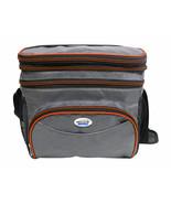 Brentwood Cooler Bag 6 Can w/ Hard Plastic Ice Bucket in Orange - $28.16