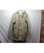 American Apparel Warm Hooded Beige Coat Sz M - $24.75