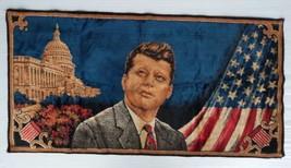 VINTAGE  JOHN F. KENNEDY CRUSHED VELVET TAPESTRY - $24.24
