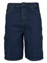 Men's Premium Cotton Multi Pocket Relaxed Fit Stonewash Denim Jean Cargo Shorts image 3