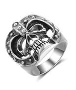 Halloween Mask Skull Ring Real 925 Sterling Silver Men Finger Rings - $169.99
